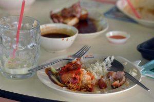 Food waste in restaurant
