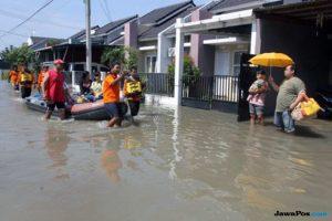 Banjir di salah satu kawasan di Jakarta