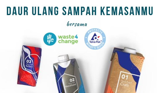 Recycle Your Carton Packaging Waste in Waste4Change & Tetra Pak's UBC (Used Beverage Carton) Program!