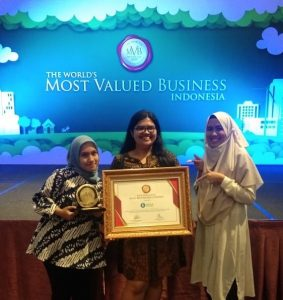 Waste4Change's Team at the MVB Indonesia Appreciation Ceremony