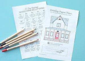Contoh rencana atau tahapan decluttering dalam jangka waktu satu bulan. Sumber: schoolofdecorating.com