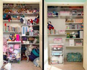 Contoh lemari sebelum dan sesudah dibersihkan. Sumber: Pinterest