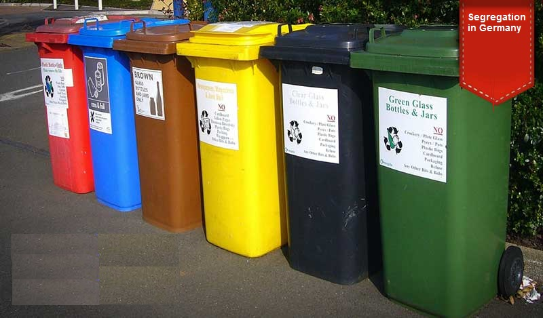 Garbage bins Germany
